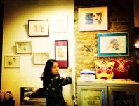 RINA SHINJI喜歡港產片,除了王家衛電影,她還畫過《霸王別姬》中的張國榮。
