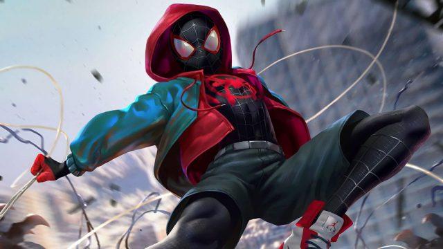 由Bob Persichetti、Peter Ramsey和Rodney Rothman執導的《Spider-Man: Into the Spider-Verse 蜘蛛俠:跳入蜘蛛宇宙》奪下最佳動畫獎。(劇照)