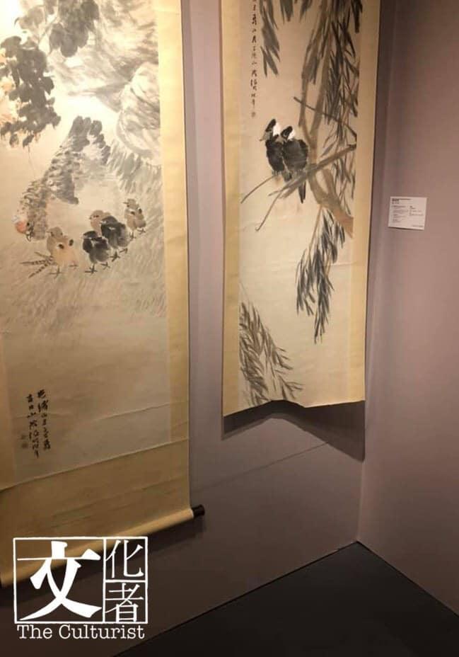據文化者得知,該任伯年畫作是在昨日被參觀預展觀眾中一位小孩子連畫帶軸被撕毀。