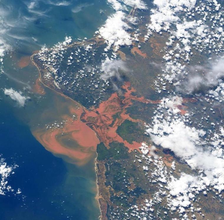 受暴雨影響而引發水災的馬達加斯加西北部(相片來源:Christina Koch Instagram)