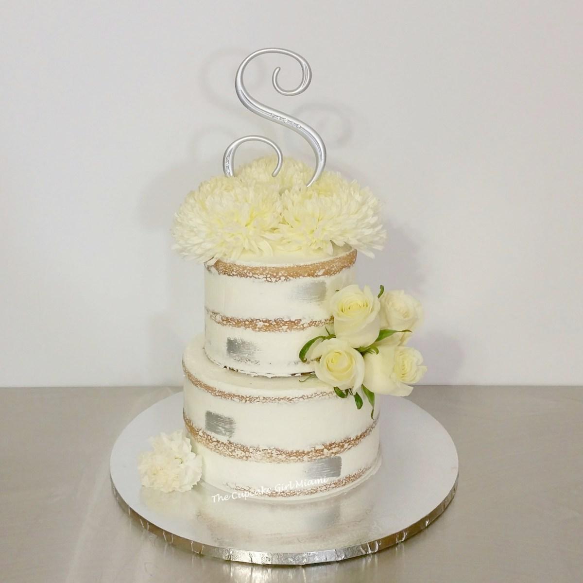 Wedding cake, Naked cake, Miami wedding
