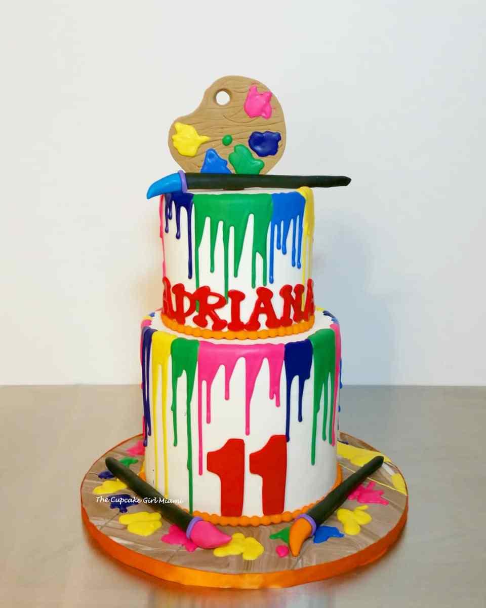 painter cake, drip cake,