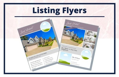 The Ella Collection - Flyers - Real Estate Branding Bundle for Women