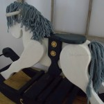 Wooden Rocking Horse Makeover For A 1st Birthday The Curators Collection
