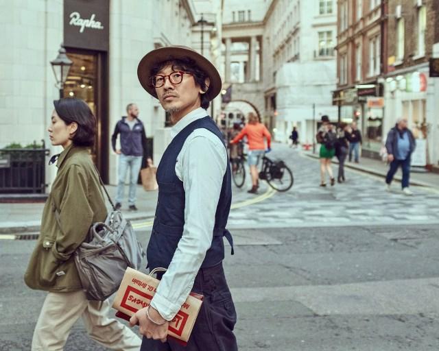 Asian man street photo