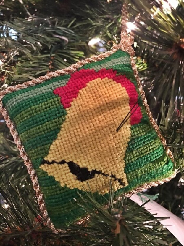Needlepoint Bell Ornament