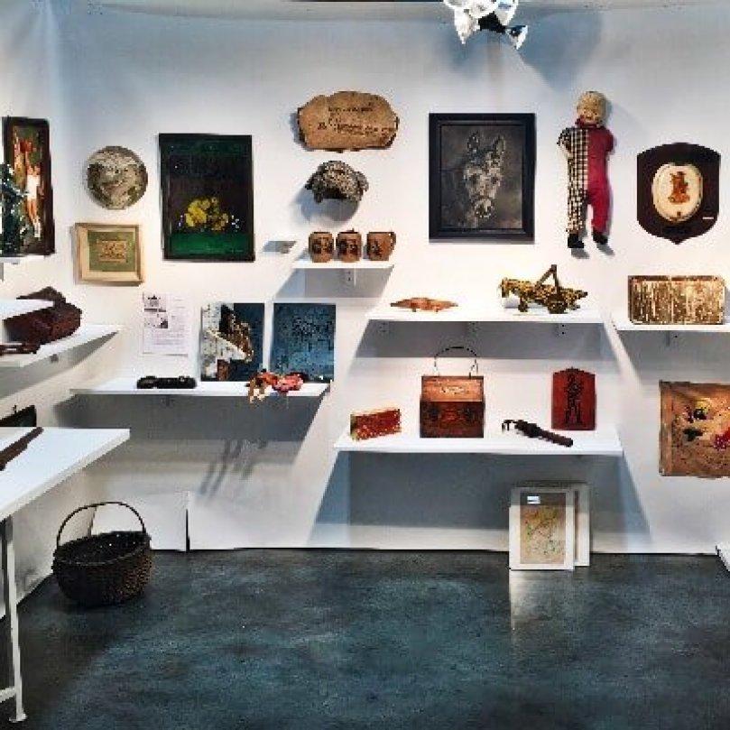 Art Dealer Josh Lowenfels Booth at Outsider Art Fair