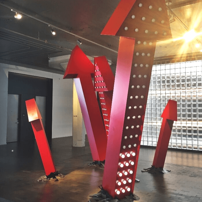21c Oklahoma Red Arrow Art Installation
