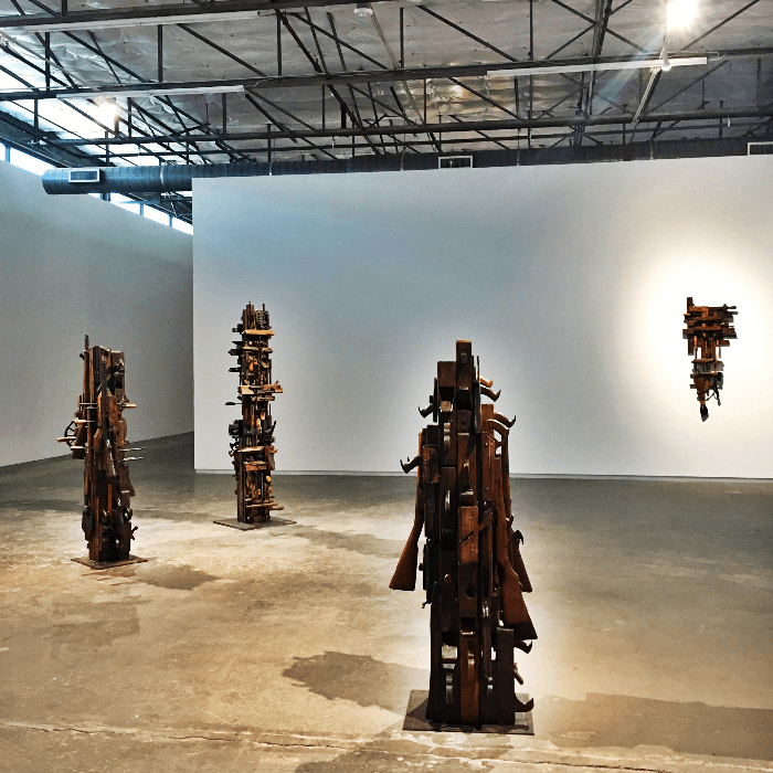 Must visit gallery Dallas Contemporary Art Gallery Found elements sculpture