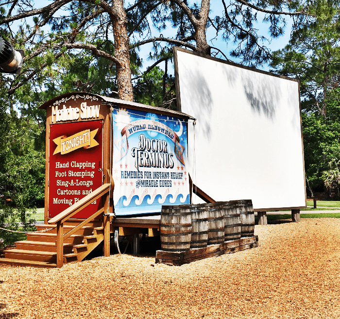 Getting Back to Nature Walt Disney World Resorts Fort Wilderness outdoor movies