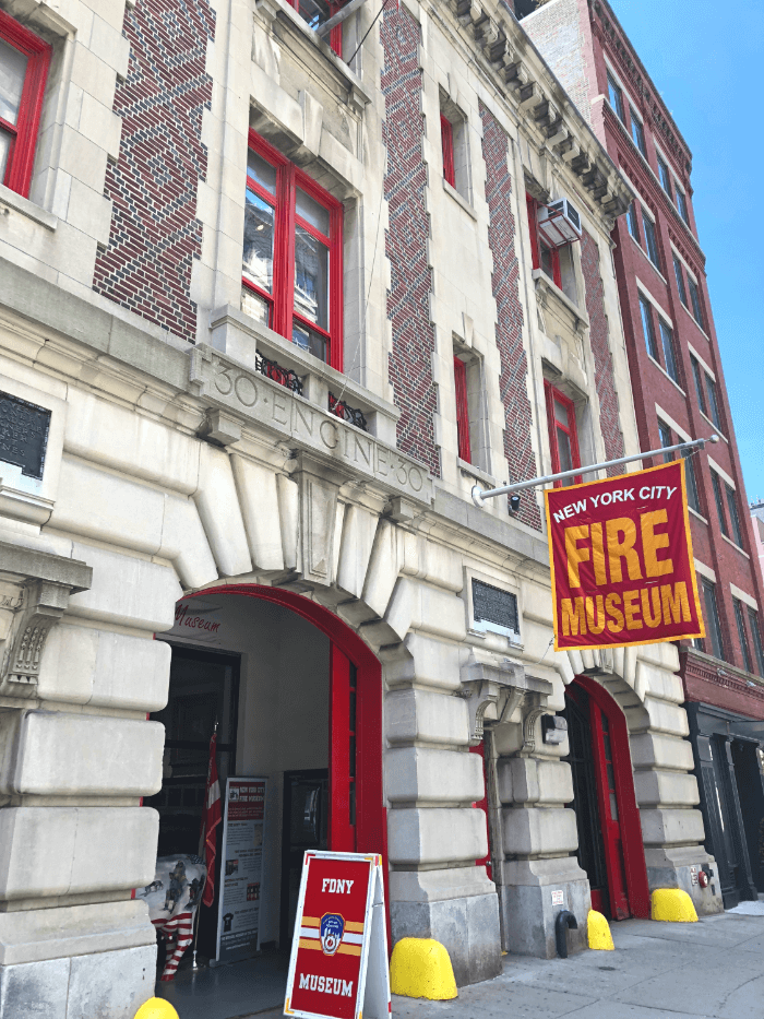 Facade of the 1904 Firehouse that is now the New York City Fire Museum