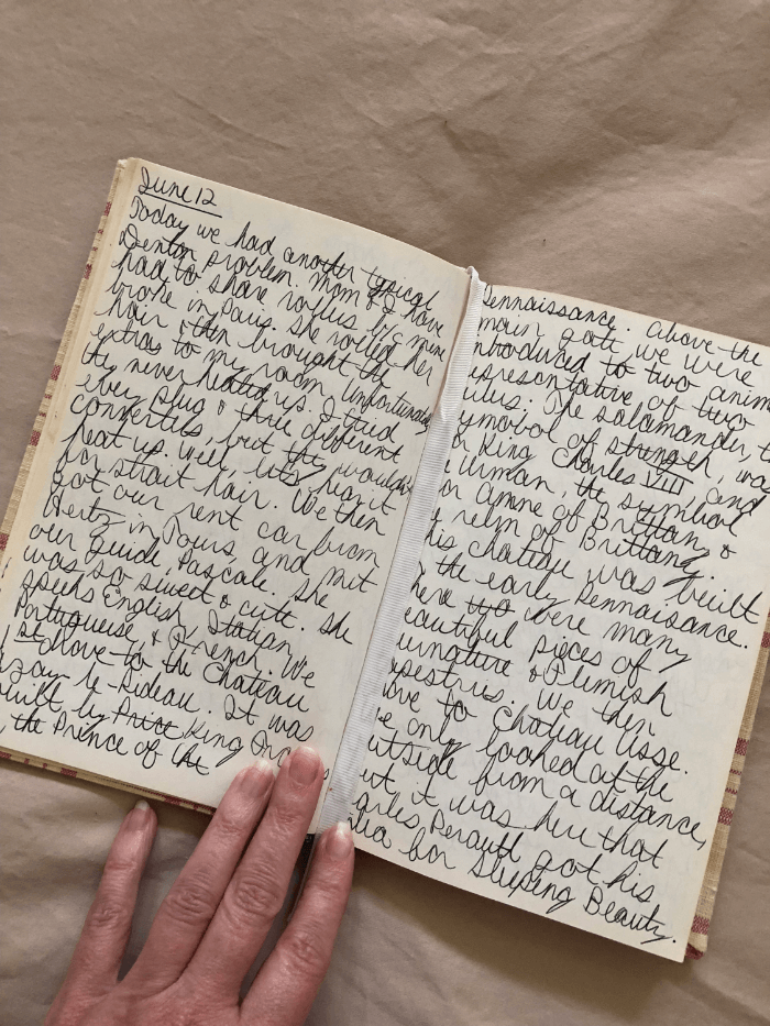 Travel Diary pages