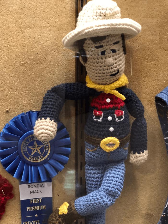 Ribbon Winners Knit Big Tex Blue Ribbon