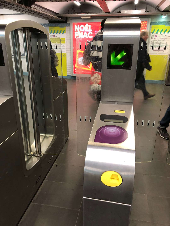 Paris Metro Ticket turn style