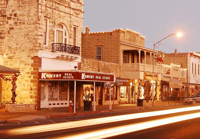 Downtown Fredericksburg Texas