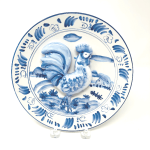 Blue & White Rooster Plate