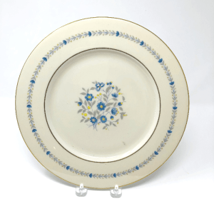Castleton Devon China Plate with blue yellow and grey flowers