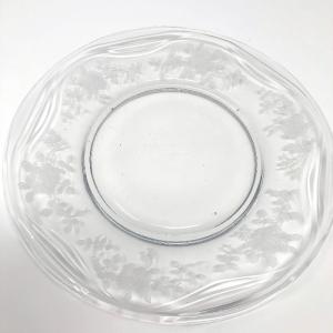 Clear Glass Fostoria Plate