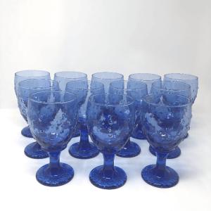 Cobalt Blue Hobnail Glasses