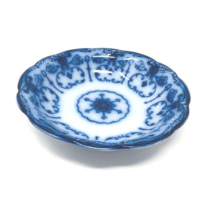 Large Flow Blue Bowl Side View