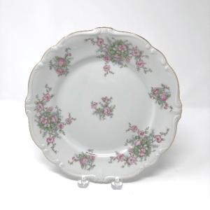 Pink Floral Haviland Dinner Plate