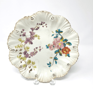 Scalloped Floral Plate