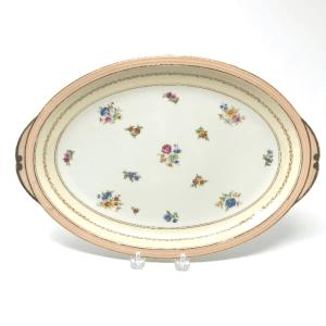 Small Pink-Rimmed Limoges Platter