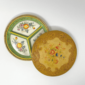 yellow and green Divided Chinoiserie Dish