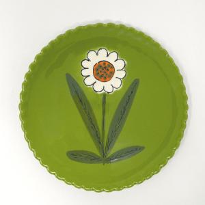 Green Italian Daisy Plate