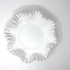 Large Fenton Silver Crest Bowl