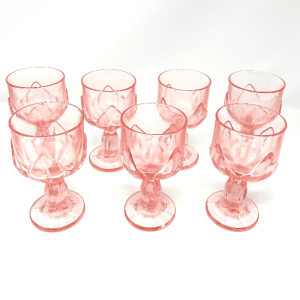 Pink Tiffin Glass Set