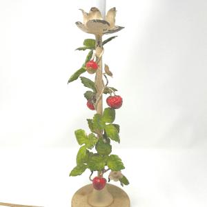 Tole Strawberry Lamp