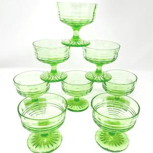Uranium Glass Sorbet Cups