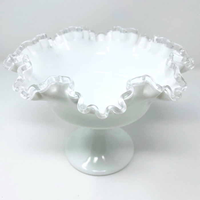 Large Silver Crest Fenton Compote