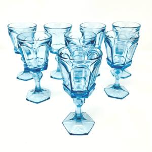 Set of 8 Blue Stems