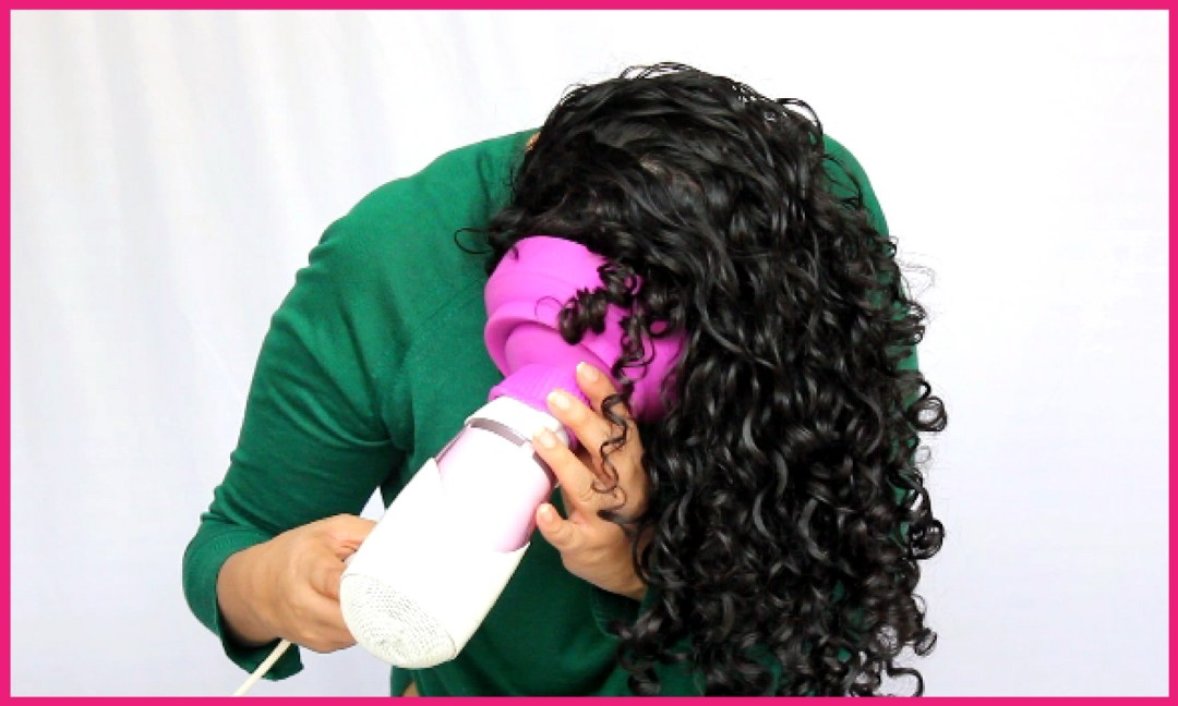 How to use diffuser on curly hair step 5