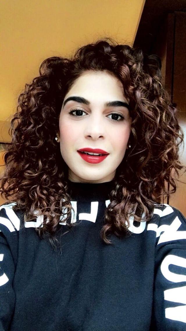 Coloured Curly Hair