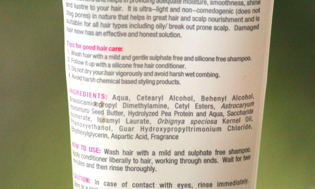 Re'equil Murumuru Damage Repair Conditioner Ingredients