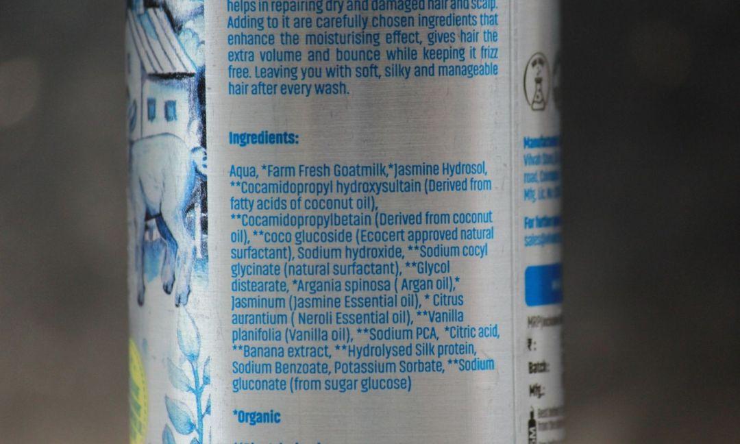 Vilvah Goatmilk Shampoo Ingredients