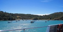 Approaching Waiheke Island, a short ferry ride from Auckland.