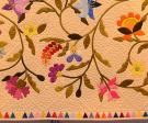 Dubai Floral Applique Quilt detail
