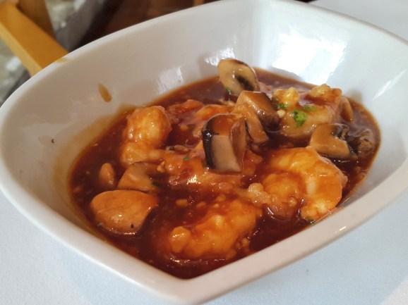 Wok-fried prawns in a seafood sauce Grand Platter, India Jones, Mumbai