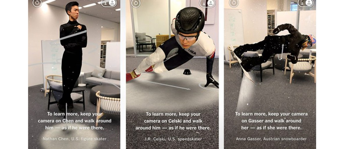 The New York Times' AR experience mobile editorial Team USA olympic games