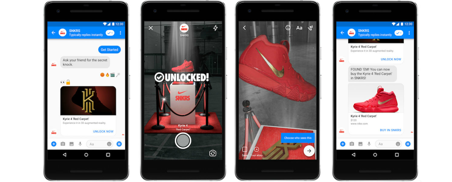 Facebook Messenger intros AR capability with Nike as key launch partner -  TheCurrent Daily