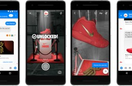 Nike AR on Facebook Messenger