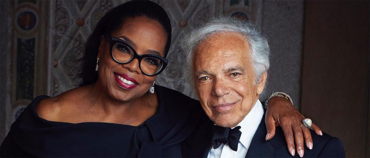 Ralph Lauren and Oprah Winfrey