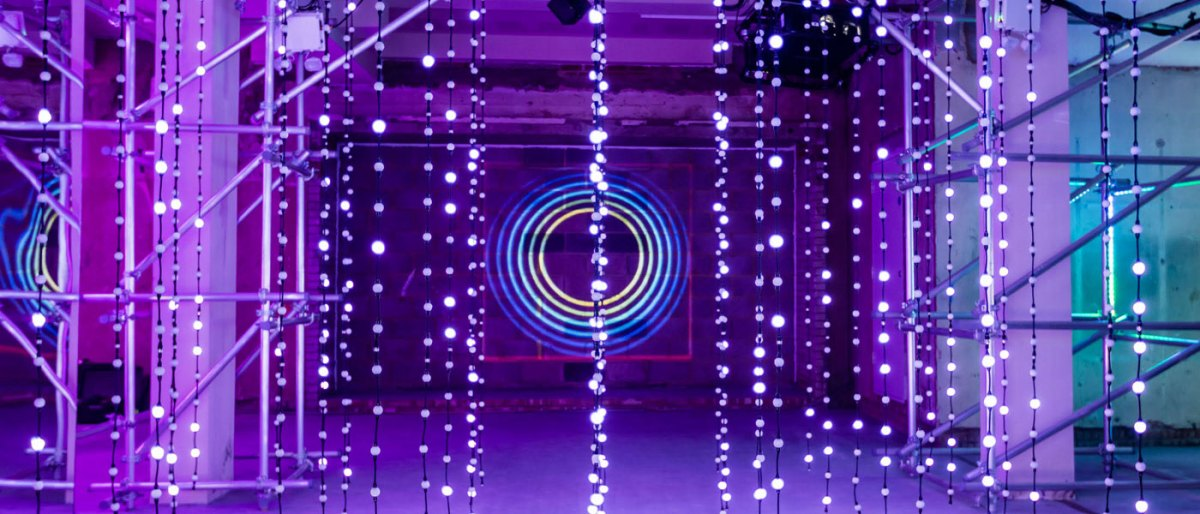 The #MulberryLights installation