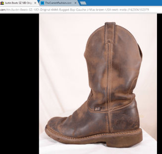 Justin Boots Original #4444 Rugged Bay Gaucho J-Max brown USA work moto