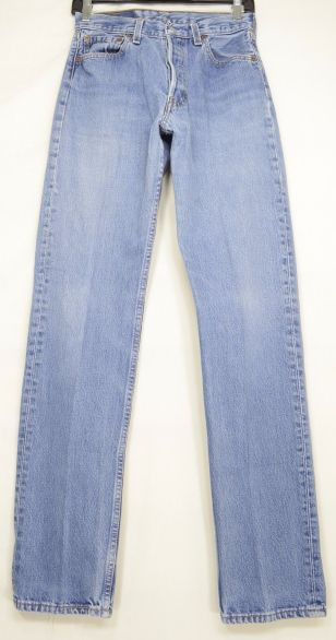 Levi-501-jeans-vintage-button-fly-high-waist-cotton-long-sexy-29-x-34-W27-USA-