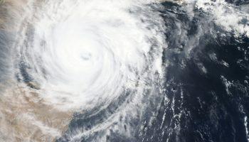 hurricane satellite photo